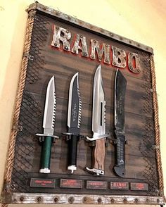 Rambo knives 🤘 or 🗡 Save to the archive if like ↗️ 🗡 See viral posts in our stories ⠀ 🗡 Buy knives, axes, swords 🗡 link on our… Cool Knives, Knives And Swords, Weapons Guns, Guns And Ammo, Rambo Knife, John Rambo, La Forge, Bushcraft Knives, Combat Knives