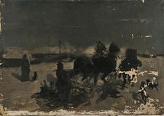 Josef Chelmonski (Polish, 1850-1914) The Sleighing Accident. | Auction 2907T | Lot 1051 | Sold for $135,000 Online Art, Painters, Art History, Joseph, Wolf, German, Auction, Europe, Polish
