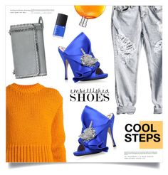 """""""Cool Steps"""" by marina-volaric ❤ liked on Polyvore featuring Acne Studios, N°21, STELLA McCARTNEY, NARS Cosmetics, Hermès and embellishedshoes"""