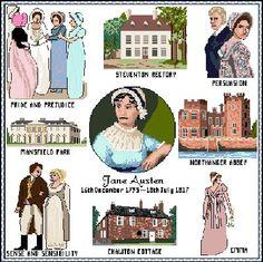 Jane Austen Sampler http://www.crafts-unlimited.co.uk/xjasmplb.htm
