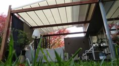 A retro-fitted retractable #roof #system installed at a Private Residence in Ballarat #Melbourne. #retractable #roof #awning