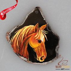 NEW! HAND PAINTED HORSE AGATE SLICE GEMSTONE NECKLACE PENDANT ZP80 00033 | Jewelry & Watches, Fashion Jewelry, Necklaces & Pendants | eBay!