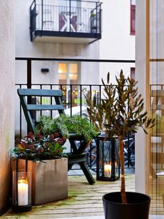 Balcony apartment nordic style Vía Chic and decó
