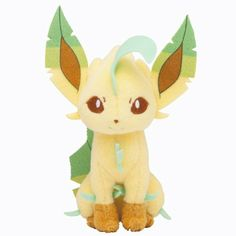Amazon.com: Pokémon Center Original Plush Doll Sitting Trick Pose Leafeon: Toys & Games