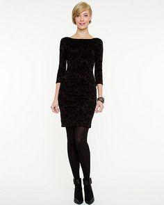 Flocked Scuba Knit Dress