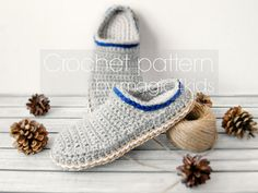 Crochet pattern TODDLER CLOGS with rope solesfor 1 yo up to