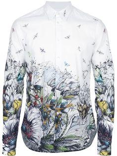 Mcq By Alexander Mcqueen Camisa Branca Estampada.