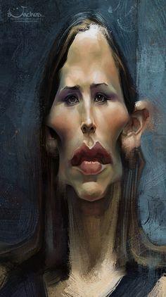 Caricatura de Jennifer Garner