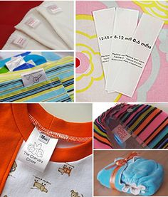 Care tags, garment labels, logo ribbon