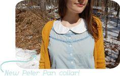 handmade detachable peter pan collar.