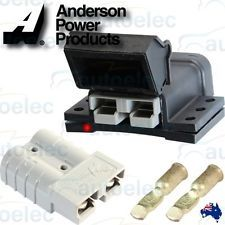 ANDERSON PLUG EXTERNAL MOUNTING KIT 50AMP + 2 x 50 AMP CONNECTORS CONNECTOR NEW