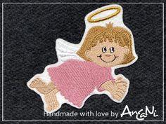 Aufnäher Schutzengel ♥ Engel Mädchen ♥ Weihnachten von AnCaNi auf DaWanda.com