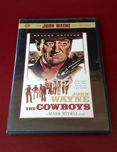 The Cowboys DVD: Deluxe John Wayne Collection- 8 Black and White Photos Pictures