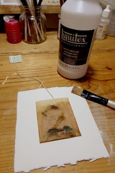 'susan edwards' ~ watercolors, acrylic paint, gouache, colored pencil and oil pastel on teabag DO THIS MK last january i was asked by the docum. Tea Bag Art, Tea Art, Tee Kunst, Used Tea Bags, Tea Stains, Printed Bags, Art Tips, Altered Art, Altered Books