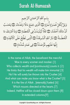 Implications Of Surah Al-Humazah (The Traducer)