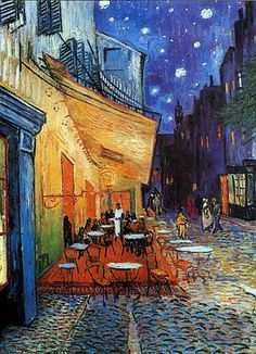 The Cafe la Nuit painted by van Gogh during his stay in Arles in 1888