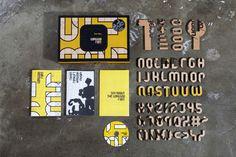 Tool Box - Gonggoo Font (Yellow Ver.) by Kyungjin Kim, via Behance
