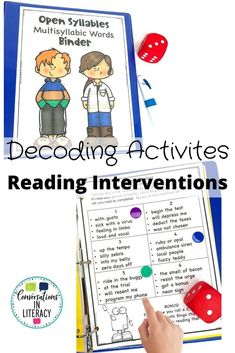 No Prep-Print & Go! Decoding Open Syllable Multisyllabic Words doesn't have to be tricky anymore! Strategic activities teachers can differentiate for the needs of students. Perfect for quick word work during guided reading, reading interventions & for literacy centers! #phonics #fluency #decoding #literacycenters #guidedreading #elementary #classroom #readinginterventions #RTI #wordwork #backtoschool 4th grade, 2nd grade, 3rd grade