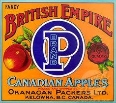 Vernon Canada Blue Grouse Bird Birds Apple Fruit Crate Label Art Print