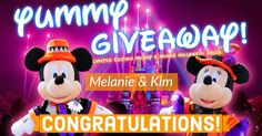 The Results are in! Congratulations to Melanie and Kim for winning our giveaway of the Tokyo Disneyland Limited Edition Halloween Mickey and Minnie dolls!  We will be sending the winners their prizes very soon along with a few goodies from us at Yummy Japan.  Many thanks to everyone that participated! Stay tuned in the future because another giveaway is just around the corner! - Victor & Charly