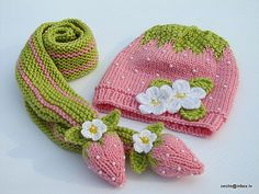 Knitting: Ravelry: Zecite cute for little lady ., : Knitting: Ravelry: Zecite cute for little lady …, Crochet Kids Hats, Crochet Cap, Crochet Mittens, Baby Hats Knitting, Knitting For Kids, Knitting Stitches, Knitting Projects, Crochet Projects, Knitted Hats
