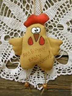 Купить или заказать Петушок пряничный. Текстильная игрушка в интернет-магазине на Ярмарке Мастеров. Скоро, скоро Новый год! А в Новый год всегда хочется чего-то яркого, интересного, весёлого! Чудесный пряничный петушок - кофейный сувенир на елочку или в машину - весёлый подарок на праздник! Украсит любой интерьер! Подойдет не только на новый год, но и на Пасху или просто так на кухне повесить! Петушок с пожеланиями! Можете заказать свои пожелания!