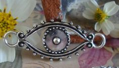 Eye Charm Metal Craft Charm by FlauntingCharms on Etsy, $0.57