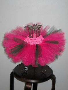 Fuchsia and Hunter Green Tutu Pink and Green Tutu by mamamadebows