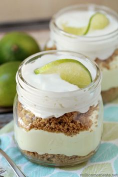 Get tropical and make your favorite summer pie in a Mason jar. Get the recipe at A Million Moments.   - Delish.com