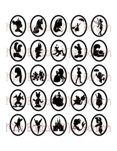 Disney Cameos and Silhouettes