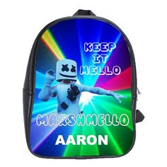 FORTNITE MARSHMELLO EVENT LEATHER XL BACKPACK Marshmello Alone, Dj Marshmello, First Day Of School, Pre School, Battle Royale, Game R, Cool Backpacks, Feeling Special, One Pic