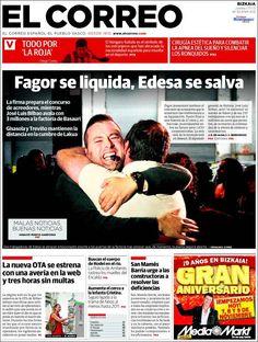 Los Titulares y Portadas de Noticias Destacadas Españolas del 7 de Noviembre de 2013 del Diario El Correo ¿Que le pareció esta Portada de este Diario Español?