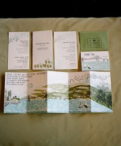 Really like the whimsical nature of this invitation suite!