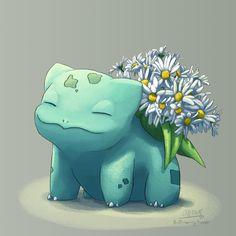 "butt-berry:  ""Blooming Bulbasaur #34 - Daisy  ""  EEEEEEEEEEE! DAISIES! BEST LITTLE BULBY EVER!"