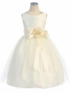 I think I like this one the best Lindsey!  Ivory Vintage Satin Tulle Dress