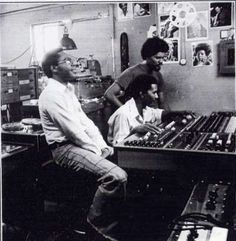 BB Seaton, Errol Brown, Willie Lindo at Treasure Isle studio mid 1970's