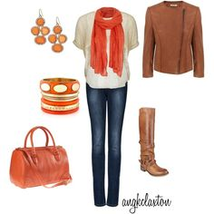 """Winter Orange"" by angkclaxton on Polyvore"