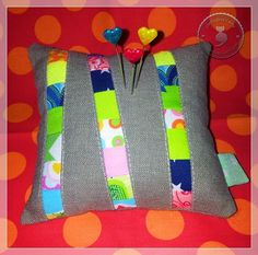 """the cutest pincushion ever - inspired by """"crazymomquilts"""""""