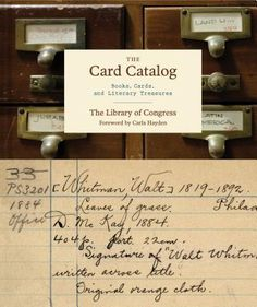 The Card Catalog: Books, Cards, and Literary Treasures by David S. Mao. Click on the cover to see if the book is available at Freeport Community Library.