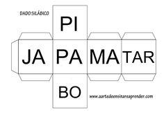 Jogo pedagógico: Dados silábicos   Método lúdico para trabalhar leitura e formação de palavras na escola em turmas de alfabetização. ...