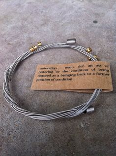 Recycled Guitar Strings Bracelet