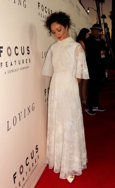 Ruth Negga attends the premiere of 'Loving' in Los Angeles on Ocotober 20, 2016