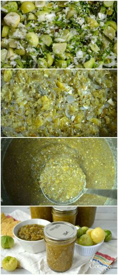 How to make green salsa with tomatillos or green tomatoes