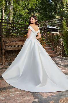 Casablanca Off shoulder ball gown, all Mikado. Off Shoulder Ball Gown, One Shoulder Wedding Dress, Brides And Bridesmaids, Bridesmaid Dresses, Bridal Gowns, Wedding Gowns, Wedding Dress Pictures, Gowns With Sleeves, Ball Gowns