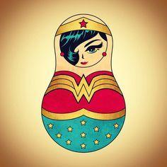 """Gefällt 6 Mal, 1 Kommentare - MATROSCHKA BANDE❤ (@matroschka.bande) auf Instagram: """"WONDERWOMAN #matroschkabande #matroschka #wonderwoman #super #superhero #comics #comic #russia…"""""""