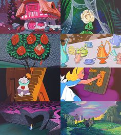 alice in wonderland is just so colorful