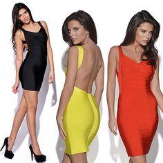 Plus Size XS-XXL High Quality 2014 New Fashion Women Party Club wear Sexy Bandage Dress Evening Mini Bodycon Backless Dress US $14.99 - 16.99