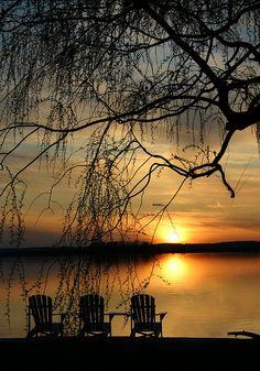Sunset on Lake Ontario. Beautiful #GILOVEONTARIO