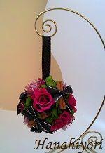 ボールブーケアレンジ☆フューシャピンクxシナモン2012年1月 Wreaths, Seasons, Flowers, Decor, Decoration, Decorating, Seasons Of The Year, Dekoration, Garlands
