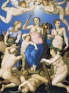 Bronzino - Allegory of Happiness  ca.1567